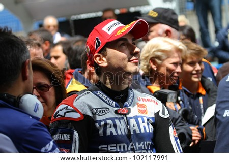 JEREZ, SPAIN - APRIL 29: Jorge Lorenzo during Bet and Win MotoGP of Spain in Jerez on April 29 2012