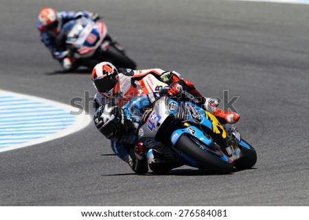 JEREZ - SPAIN, MAY 2: British Honda rider Scott Redding at 2015 Bwin MotoGP of Spain at Jerez circuit on May 2, 2015 - stock photo