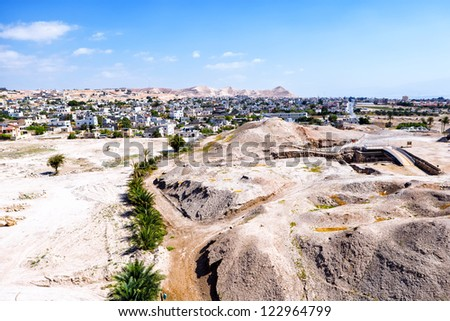 Jericho, City of Palm Trees - stock photo
