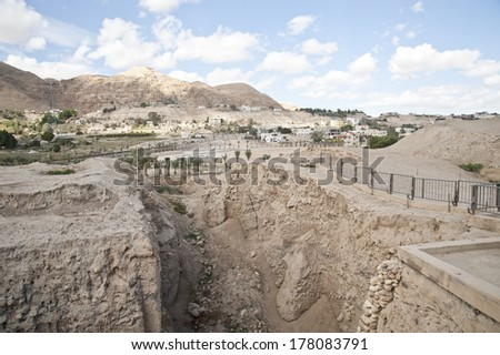 Jericho -  oldest city in the world - stock photo