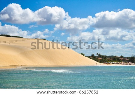 Jericoacoara dunes in Natal city - Brazil - stock photo