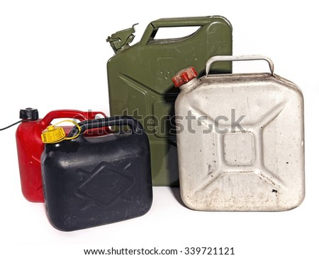 jerry can of petrol - stock photo