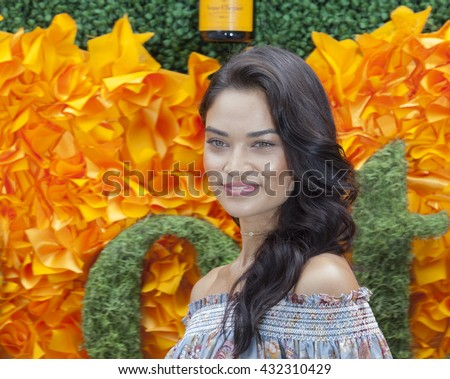 Jersey City, NJ USA - June 4, 2016: Shanina Shaik attends 9th annual Veuve Clicquot Polo Classic at Liberty State Park
