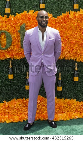 Jersey City, NJ USA - June 4, 2016: Tyson Beckferd attends 9th annual Veuve Clicquot Polo Classic at Liberty State Park - stock photo