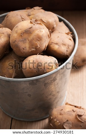 how do potatoes grow in the ground