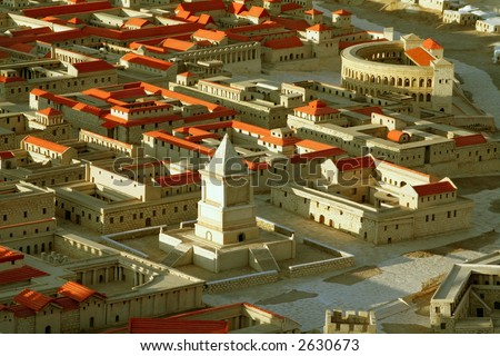 Jerusalem during the time of King Solomon and the 2nd Temple - stock photo