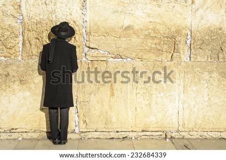 Jerusalem, Israel at the Western Wall. - stock photo