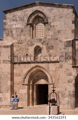 JERUSALEM, ISRAEL July 15, 2015: St Anne's Church, Jerusalem, Israel - stock photo