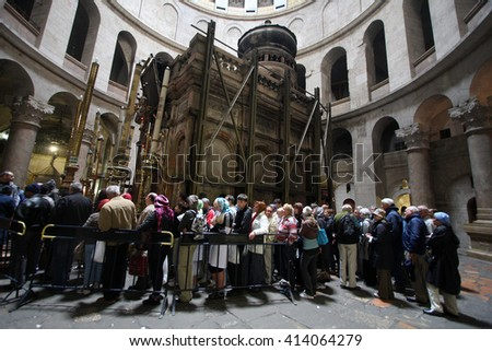 Jerusalem,Israel - March 06,2008 : Church of the Holy Sepulchre