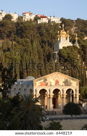 Jerusalem - Mount of Olives churches - stock photo