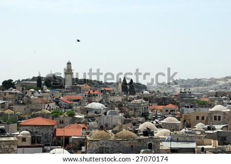 Jerusalem panorama - stock photo
