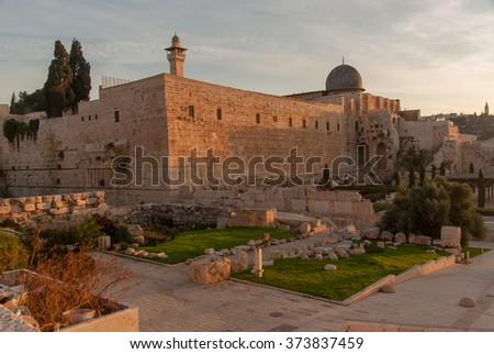 Jerusalem temple - stock photo