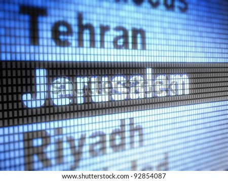 Jerusalem. World capitals Full collection of icons like that is in my portfolio - stock photo