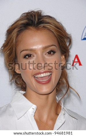 Jessica Alba at a fund-raising gala to benefit Padres Contra El Cncer (parents against cancer) at The Lot, Hollywood. October 19, 2007  Los Angeles, CA Picture: Paul Smith / Featureflash - stock photo