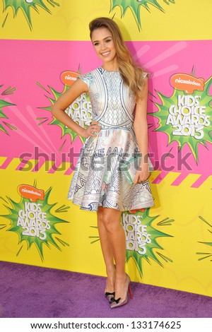 Jessica Alba at Nickelodeon's 26th Annual Kids' Choice Awards at the Galen Centre, Los Angeles. March 23, 2013  Los Angeles, CA Picture: Paul Smith - stock photo