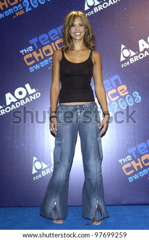 JESSICA ALBA at the 2003 Teen Choice Awards in Hollywood. Aug 2, 2003  Paul Smith / Featureflash - stock photo