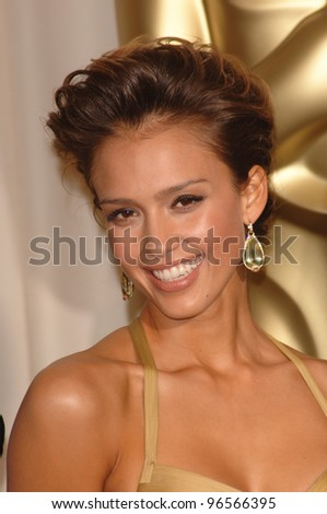 JESSICA ALBA at the 78th Annual Academy Awards at the Kodak Theatre in Hollywood. March 5, 2006  Los Angeles, CA  2006 Paul Smith / Featureflash - stock photo