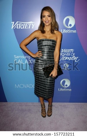 Jessica Alba at Variety's 5th Annual Power of Women, Beverly Wilshire, Beverly Hills, CA 10-04-13 - stock photo