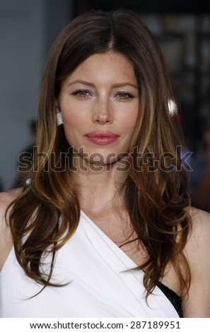 Jessica Biel at the Los Angeles premiere of 'The A-Team' held at the Grauman's Chinese Theater in Hollywood on June 3, 2010. - stock photo