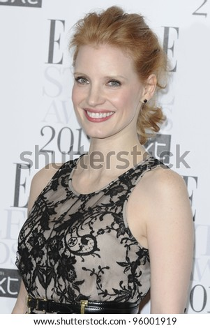 Jessica Chastain arriving for the Elle Style Awards 2012 at the Savoy Hotel, London. 13/02/2012 Picture by: Steve Vas / Featureflash