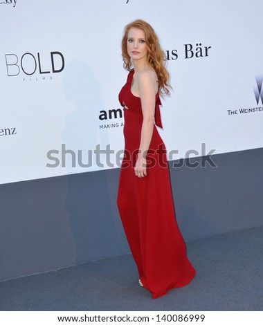 Jessica Chastain at amfAR's 20th Cinema Against AIDS Gala at the Hotel du Cap d'Antibes, France May 23, 2013  Antibes, France - stock photo