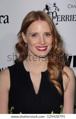 Jessica Chastain at the Sixth Annual Women In Film Pre-Oscar Coctail Party, Fig & Olive, Los Angeles, CA 02-22-12
