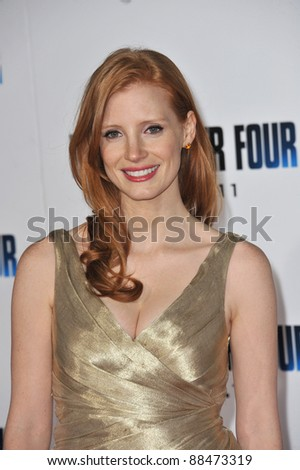 "Jessica Chastain at the world premiere of her new movie ""I Am Number Four"" at the Mann Village Theatre, Westwood. February 9, 2011  Los Angeles, CA Picture: Paul Smith / Featureflash"