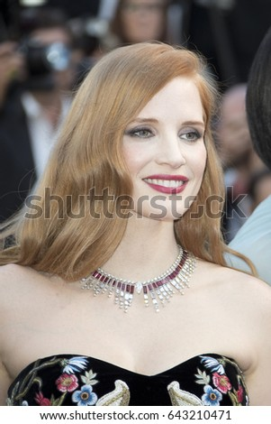 Jessica Chastain attends the 'Ismael's Ghosts' screening and Opening Gala during the 70th annual Cannes Film Festival at Palais des Festivals on May 17, 2017 in Cannes, France.