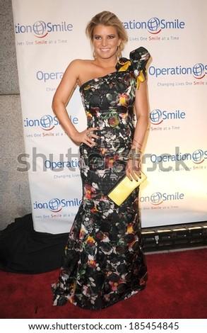 Jessica Simpson, wearing Carolina Herrera dress, at Operation Smile Annual Gala, Cipriani Restaurant Wall Street, New York, NY May 6, 2010 - stock photo