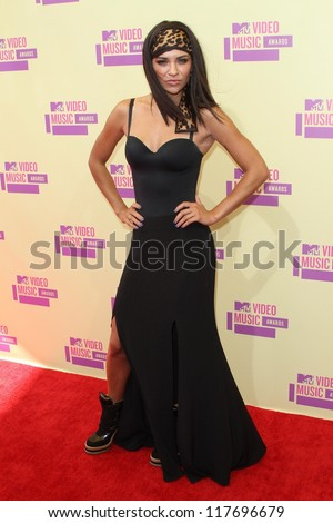 Jessica Szohr at the 2012 Video Music Awards Arrivals, Staples Center, Los Angeles, CA 09-06-12 - stock photo