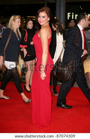 Jessica Wright arriving for the UK film premiere of Water For Elephants, at Vue Westfield, west London. 03/05/2011  Picture by: Alexandra Glen / Featureflash