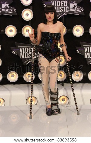 Jessie at the 2011 MTV Video Music Awards Arrivals, Nokia Theatre LA Live, Los Angeles, CA 08-28-11 - stock photo