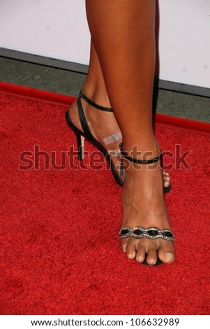 Jessie Camacho's shoes  at the 8th Annual Padres Contra El Cancer's 'El Sueno De Esperanza' Benefit Gala. Hollywood and Highland Grand Ballroom, Hollywood, CA. 10-07-08 - stock photo