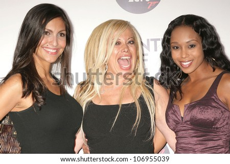 Jessie Camacho with Gloria Kisel and Zee James  at a Special Screening of 'Quantum of Solace'. Sony Pictures, Culver City, CA. 11-13-08 - stock photo