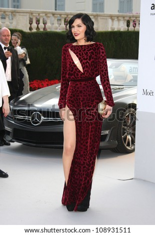 Jessie J arriving for AmfAR's Cinema Against Aids gala 2012 during the 65th annual Cannes Film Festival Cannes, France. 24/05/2012 Picture by: Henry Harris / Featureflash - stock photo