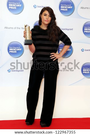 Jessie Ware attending the Barclaycard Mercury Music Prize albums of the Year nominations 2012 held at the Hospital club, London. 12/09/2012 Picture by: Henry Harris