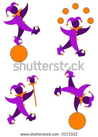 Jester graphics. - stock photo