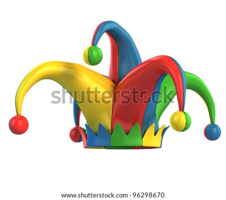 jester hat isolated - stock photo