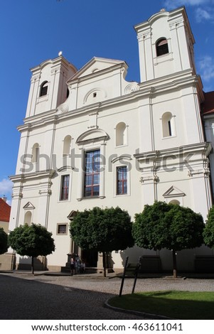 Jesuit church with gymnasium in Skalica, Slovakia