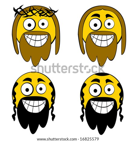 jesus jew cartooned guys stock illustration 16825579 shutterstock