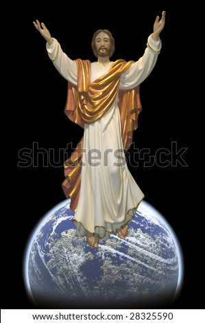 Jesus as mankind savior. - stock photo