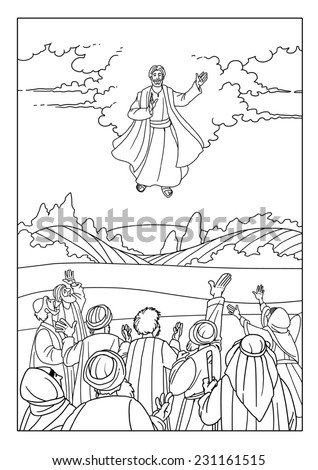Jesus Ascension Stock Images Royalty Free Images Vectors Jesus Ascension Coloring Page