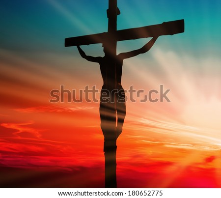 Jesus Blood Sacrifice - stock photo