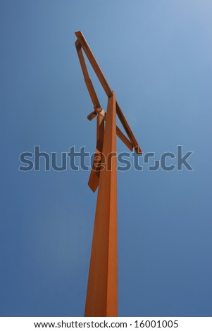 Jesus Christ crucified, Shrine of Our Lady of Fatima - stock photo
