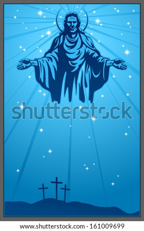 Jesus Christ, holy Spirit, blessing, Christianity - stock photo