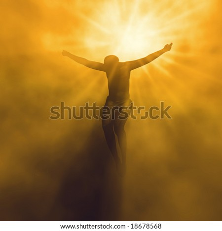 Jesus christ in heaven - stock photo