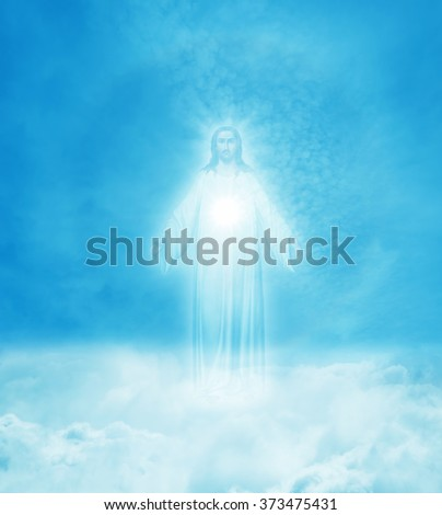 Jesus Christ in Heaven religion concept - stock photo