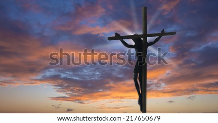 Jesus Christ on the Cross  - stock photo