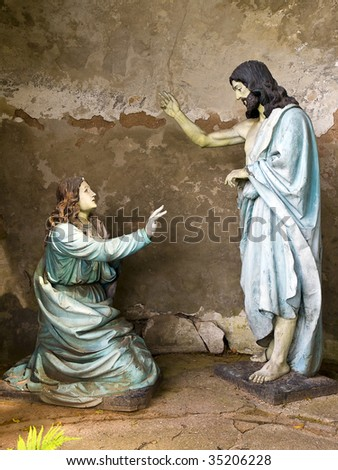 Jesus is blessing - stock photo