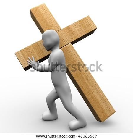 Jesus love us - stock photo